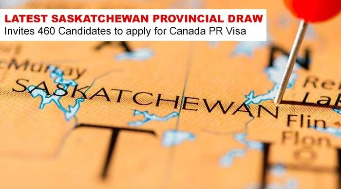 Latest Saskatchewan Provincial Draw Invites 460 Candidates to apply for Canada PR Visa